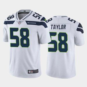 Seahawks Darrell Taylor White Jersey